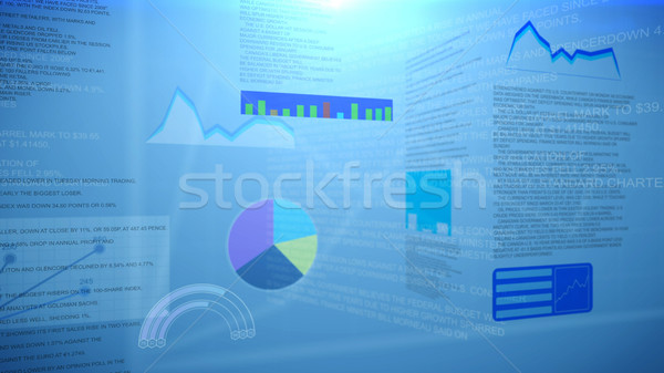 Financial charts and graphs. Abstraction Stock photo © klss