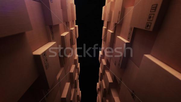 Tektury pola sklepu magazynu 3D Zdjęcia stock © klss