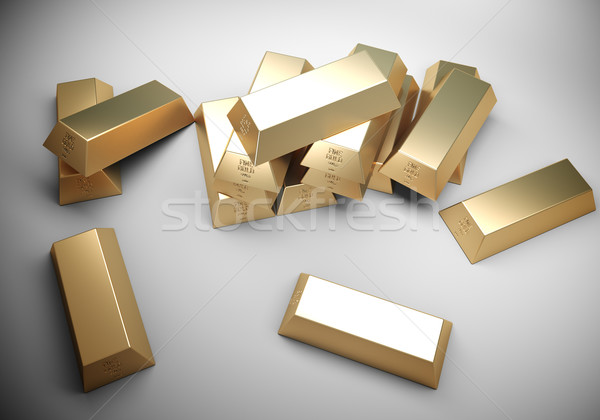 Golden bars concept Stock photo © klss
