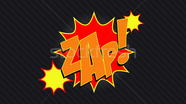 ZAP! Comic Book Bubble  Stock photo © klss