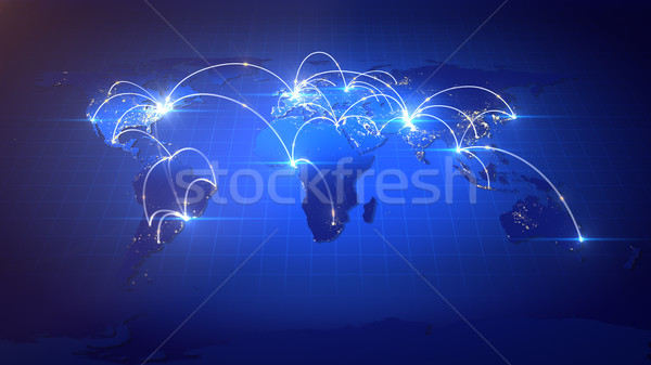 Creciente negocio global red negocios Internet global Foto stock © klss