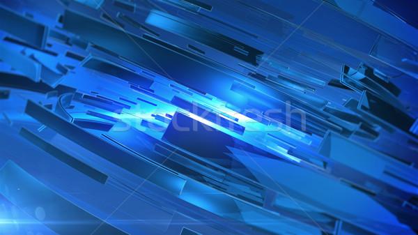аннотация 3D синий цветами технологий Сток-фото © klss