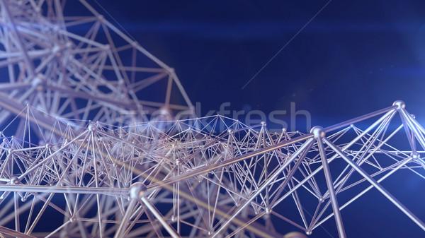 接続 構造 科学 3D レンダリング 医療 ストックフォト © klss