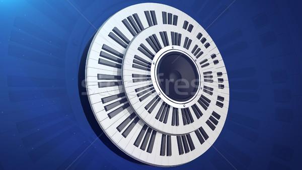 Ses dinamik izlemek iki piyano Stok fotoğraf © klss