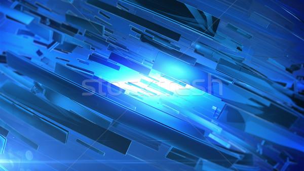 красивой синий 3D аннотация технологий фон Сток-фото © klss