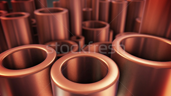 金属 銅 パイプ 選択フォーカス 3D ストックフォト © klss