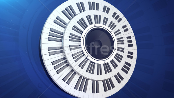 Kuyruklu piyano tuşları 3D güzel müzik Stok fotoğraf © klss