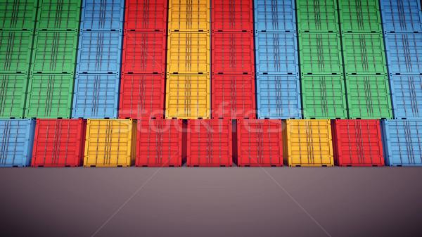 Wysyłki 3D morza przemysłu statku Zdjęcia stock © klss