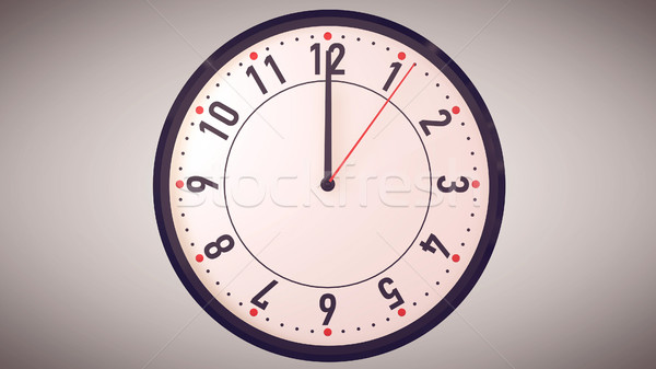 Hands pointing to midday on clock face. Stock photo © klss