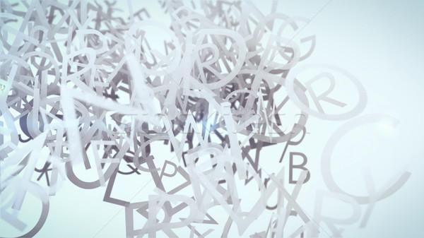 Levelek mozgás levegő különböző kéz terv Stock fotó © klss