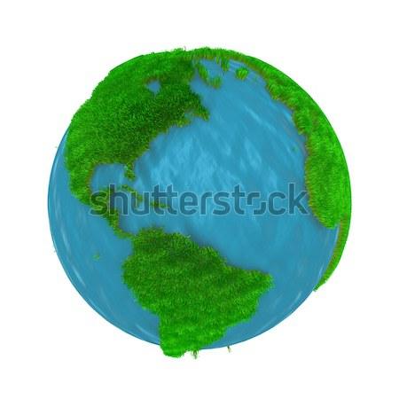 зеленый земле покрытый трава генерируется изображение Сток-фото © klss