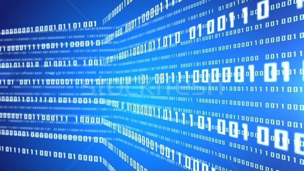 Absztrakt bináris kód kék digitális illusztráció internet fény Stock fotó © klss