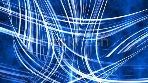 Streszczenie niebieski falisty energii linie 3d ilustracji Zdjęcia stock © klss