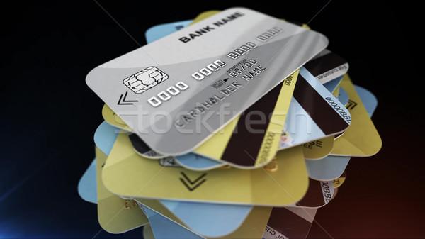 макроса выстрел кредитные карты 3D Сток-фото © klss