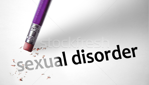 Eraser deleting the concept Sexual Disorder Stock photo © klublu