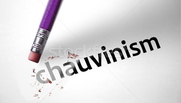 Gum woord meisje vrouwen teken mannen Stockfoto © klublu
