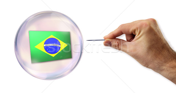 Brazilian economic Bubble about to explode by a needle  Stock photo © klublu