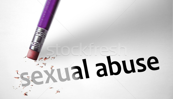 Eraser deleting the concept Sexual Abuse  Stock photo © klublu