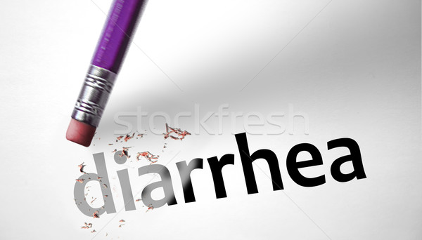 Eraser deleting the word Diarrhea  Stock photo © klublu