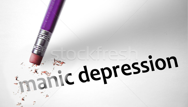 Eraser deleting the concept Manic Depression  Stock photo © klublu