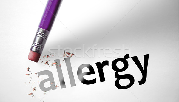 Eraser deleting the word Allergy  Stock photo © klublu