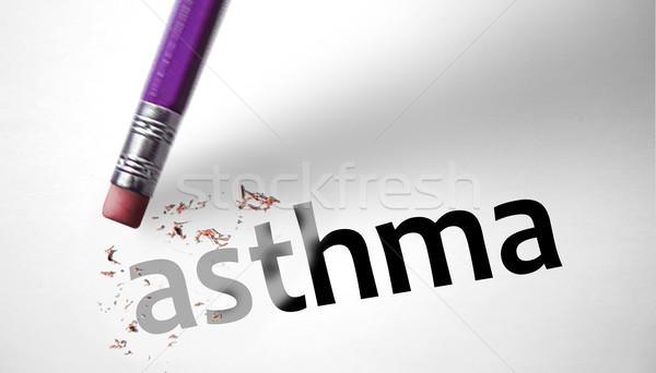 Silgi kelime astım tıbbi kalem imzalamak Stok fotoğraf © klublu