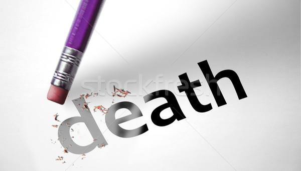 Gum woord dood papier medische lichaam Stockfoto © klublu