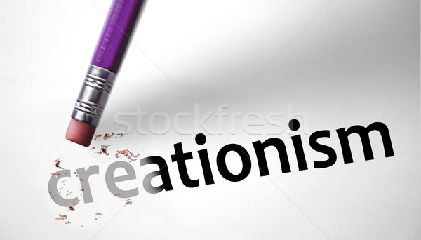 Apagador lápis homens deus humanismo religião Foto stock © klublu