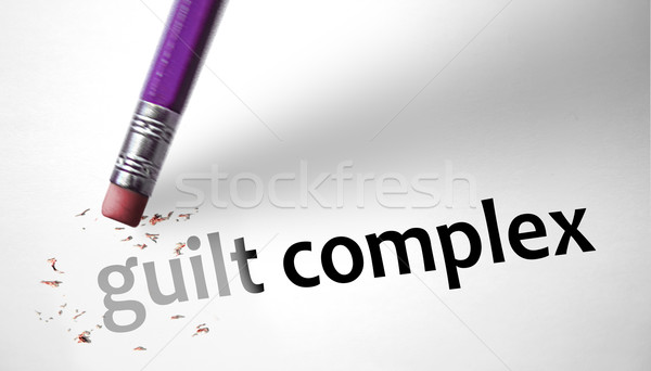 Eraser deleting the concept Guilt Complex  Stock photo © klublu