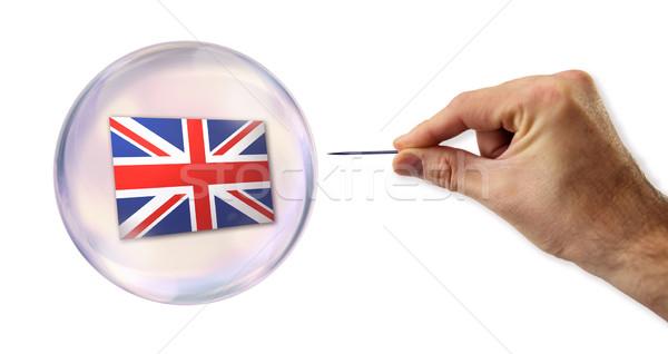 Сток-фото: Великобритания · экономический · пузыря · Финансы · рынке · продажи