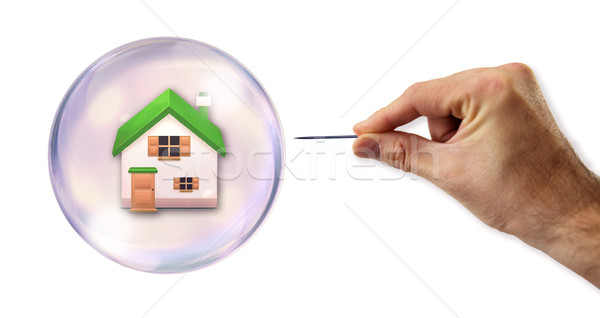 Huisvesting bubble business huis home financieren Stockfoto © klublu