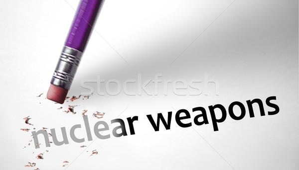 Stock fotó: Radír · nukleáris · fegyverek · papír · fegyver · halál