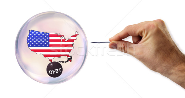 Stock photo: The American Debt economic bubble about to be exploited