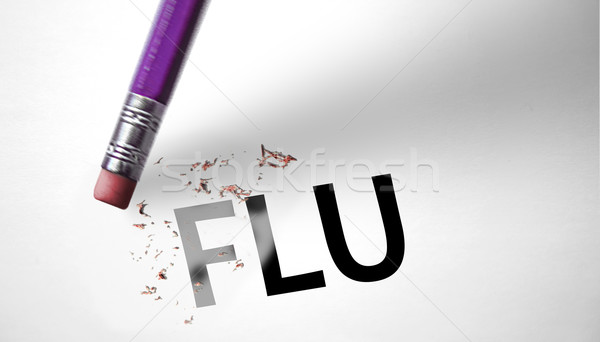 Eraser deleting the word Flu  Stock photo © klublu