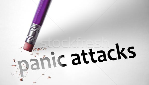消しゴム パニック 健康 鉛筆 ストレス ホラー ストックフォト © klublu