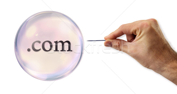 Internet .com Bubble about to explode by a needle  Stock photo © klublu