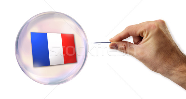 The French economic bubble about to be exploited  Stock photo © klublu
