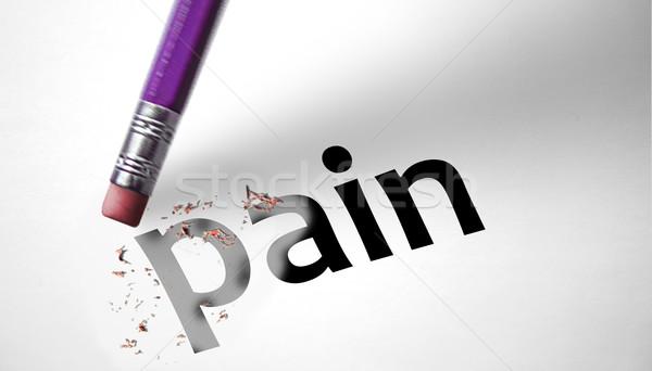 Gum woord pijn hand teken triest Stockfoto © klublu