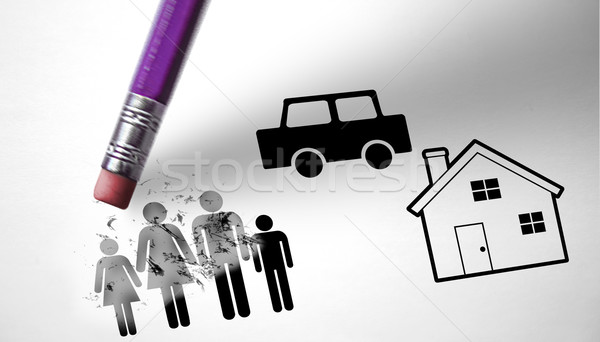 Unemployment and economic crisis conducive to family crisis  Stock photo © klublu