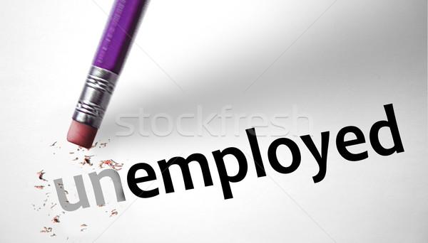 Radír szó foglalkoztatott üzlet munka ceruza Stock fotó © klublu