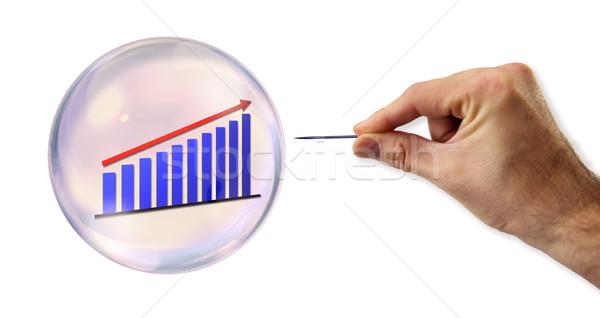 Groei bubble naald business financieren bank Stockfoto © klublu