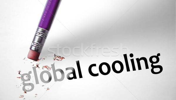 Eraser deleting the phrase Global Cooling  Stock photo © klublu