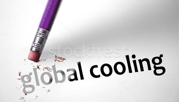 Eraser globale raffreddamento mondo neve Foto d'archivio © klublu