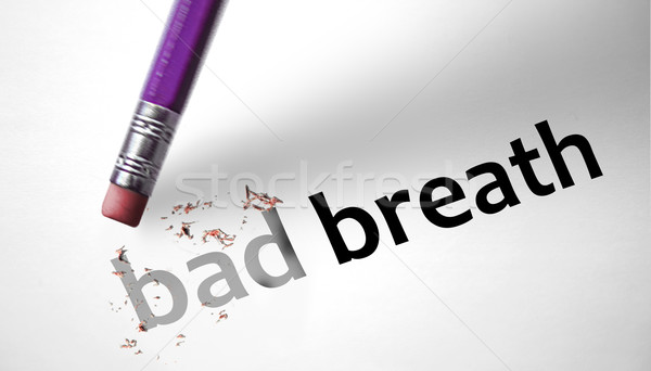 Eraser deleting the words Bad Breath  Stock photo © klublu