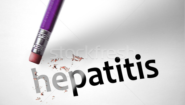 Eraser deleting the word Hepatitis  Stock photo © klublu