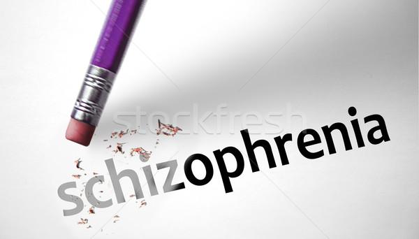Apagador palavra papel médico gritar louco Foto stock © klublu