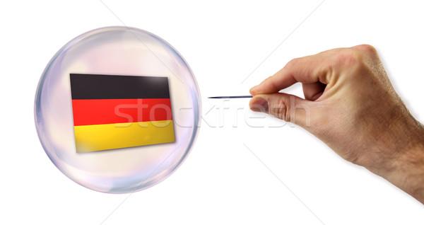 Сток-фото: экономический · пузыря · домой · банка · рынке · финансовых