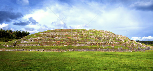 Falak erőd Peru város fal világ Stock fotó © klublu