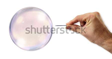 Bubble about to explode by a needle  Stock photo © klublu