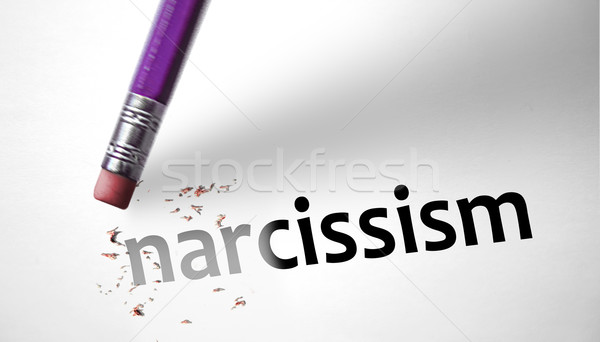 Eraser deleting the word Narcissism  Stock photo © klublu